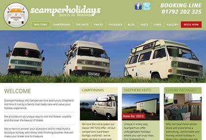 Scamper Holidays Website Design & Development