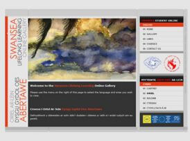 Swansea Lifelong Learning Online Gallery Website Design