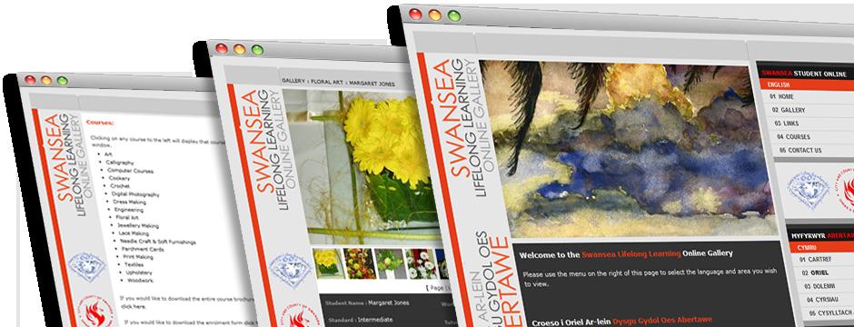 Swansea Lifelong Learning Online Gallery Website Design