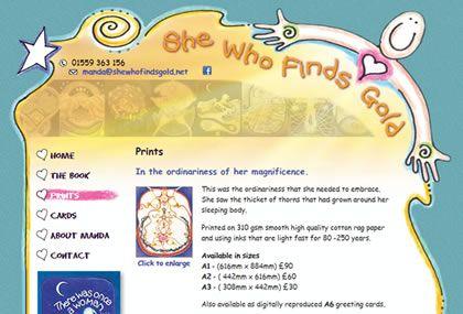 She Who Finds Gold Website Development