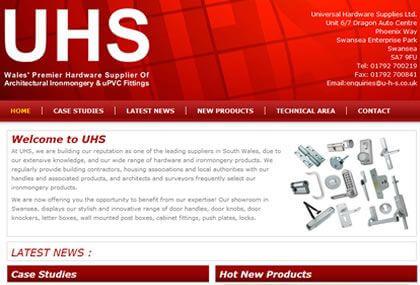 Universal Hardware Supplies Web Site