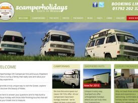 Scamper Holidays Website Design & Development